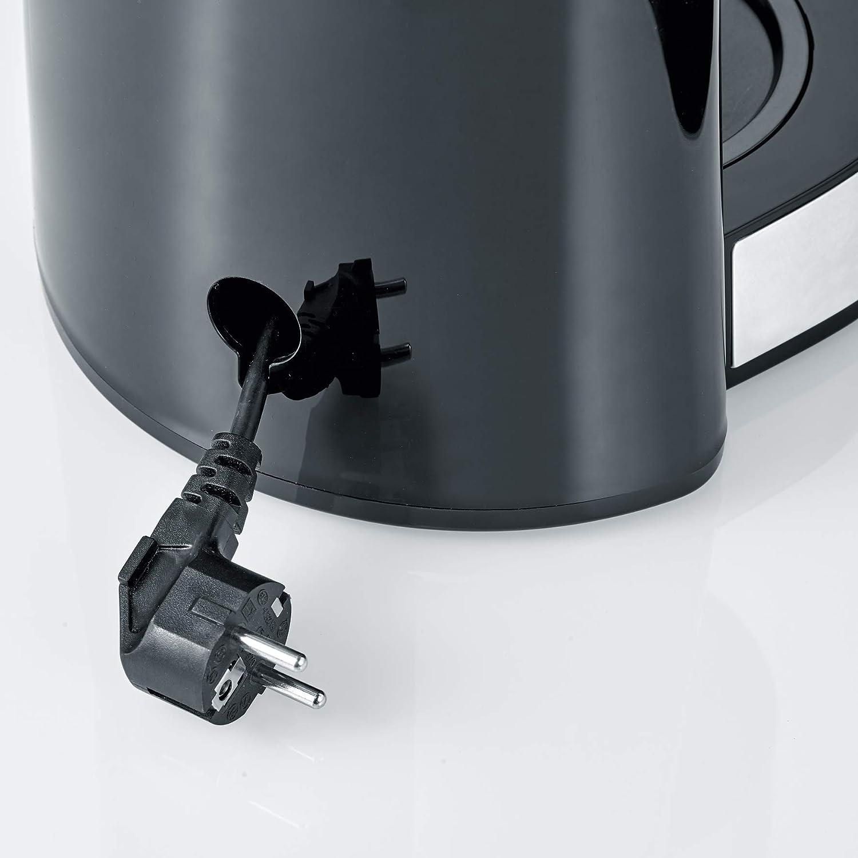 SEVERIN KA 4822 Cafetera Type para filtros de Caf/é Molido acero inoxidable//negro 10 tazas incluye jarra de cristal
