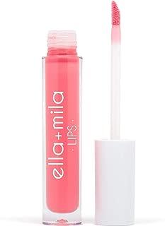 product image for ella+mila Lip Gloss, Stripped - Paraben Free w/Vitamin E, Long Lasting & Moisturizing (0.12fl oz)