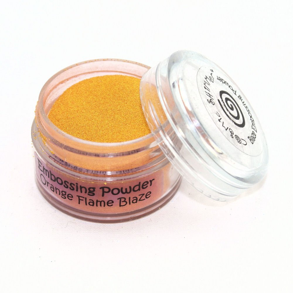 Cosmic Shimmer Aurora Embossing Powder Enamel Based, Orange Flame/Clear Creative Expressions CSEPORFL