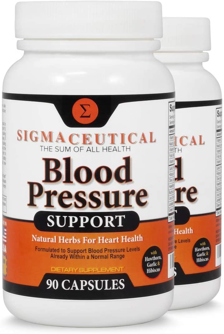 2 Pack of Blood Pressure Support Formula – High Blood Pressure Supplement with Hawthorn Extract, Hibiscus Supplement Garlic Extract – Blood Pressure Medicine – 90 Hibiscus Capsules Each