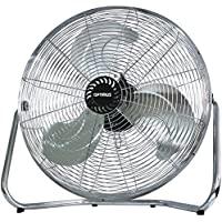 Floor Fan, Optimus F-4092 9-in 2-speed Garage Modern Metal Fan Industrial Floor