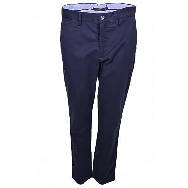 3a40e2ff254876 Ralph Lauren Pantalon Chino Bleu Marine pour Femme  Amazon.fr ...