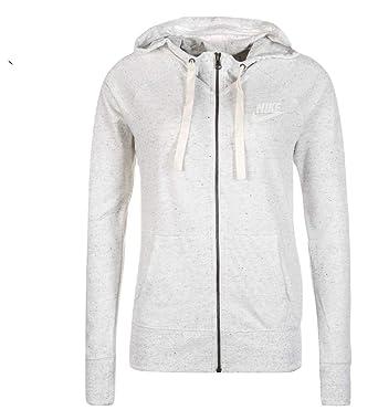 e420bd07a NIKE Womens Gym Vintage Full Zip Hooded Sweatshirt Birch Heather/Sail  883729-051 Size Medium: Amazon.co.uk: Clothing