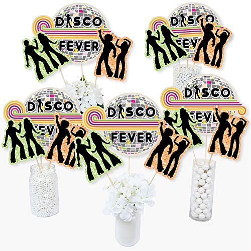 70's Theme Decorations (70's Disco - 1970s Disco Fever Party Centerpiece Sticks - Table Toppers - Set of)