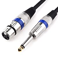 XLR to 1/4 Microphone Cable, MOBOREST- XLR Female to 6.35mm Mono Plug Unbalanced Interconnect Cable, Powered Speakers, Stage, DJ, Studio Sound Consoles (1.6Feet)