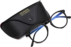 Akamai Blue Light Blocking Frames - Mens & Womens Computer Screen Bluelight Protection - Anti UV Glare - Hatteras Model (+0.0, Black)