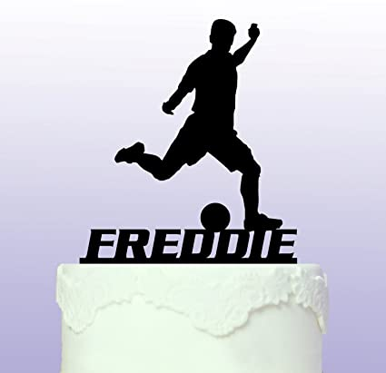 Amazon Personalised Footballer Soccer Cake Topper Custom
