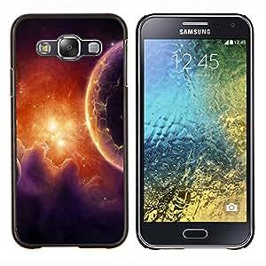 For Samsung Galaxy E5 E500 - Space Planet Galaxy Stars 38 Dise???¡Ào Protecci????n Cubierta de la caja ultra delgada de Snap de pl????stico duro - God Garden -
