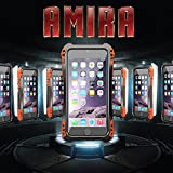 Iphone 5s Case, SWT Premium Fashion Cool Design Aluminum Alloy Metal Corning Gorilla Glass+metal Bumper+silicone Rubber Shockproof Dus/dirt Proof Weatherproof Drop Resistant Case Military Heavy Duty Light Weight Armor Defender Protection Hard Cover Apple Iphone 5 5s (BLACK+RED)