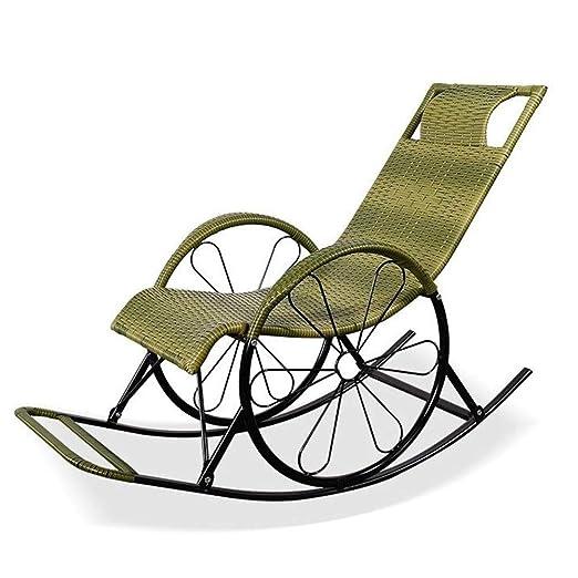 Q.AWOU Mecedora Jardín Relax Muebles Sillones para Todo Tipo ...