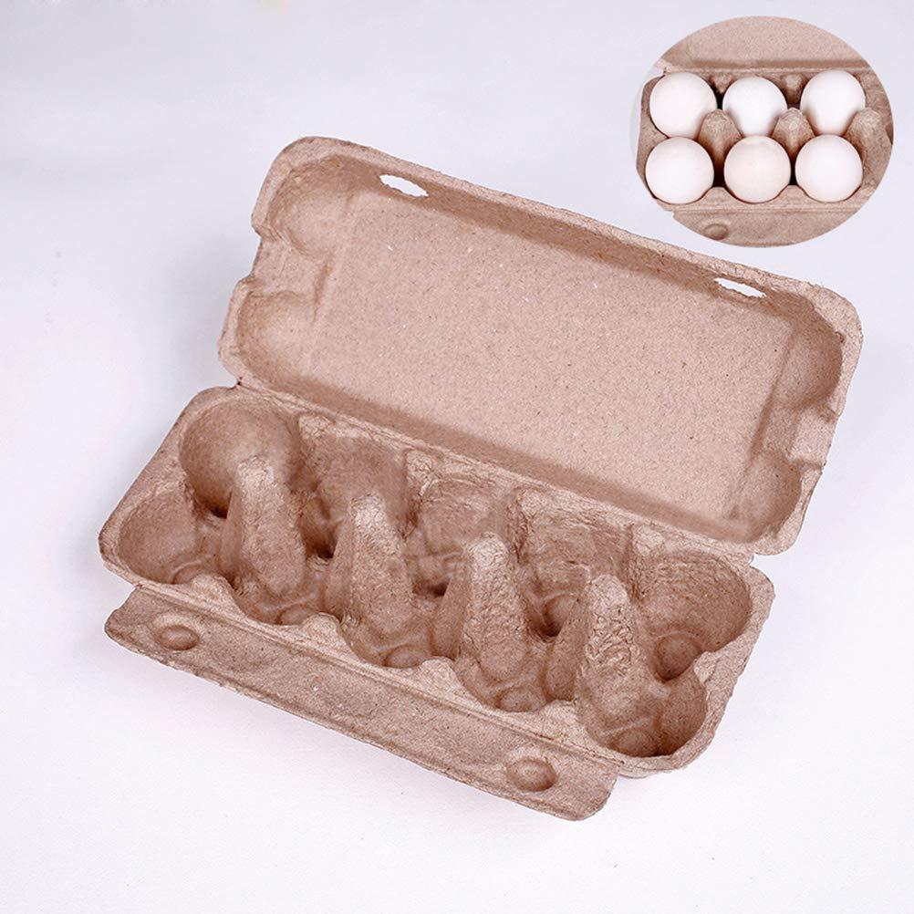POPETPOP Plateau /à Oeufs Bo/îte de Rangement pour Oeufs Pliable Carton Portable 10 Grille Support /à Oeufs Poulet /Équipement Agricole 10pcs