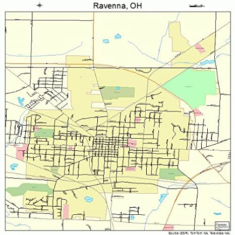 Amazon Com Image Trader Large Street Road Map Of Ravenna