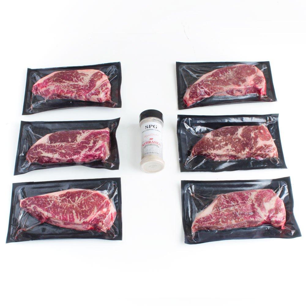 Nebraska Star Beef New York Strip End-Cut, 6 Count