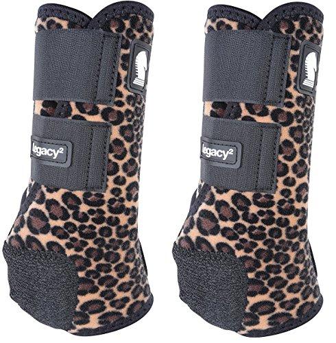 Classic Equine Legacy Designer Series Cheetah Front SMB Boots Medium