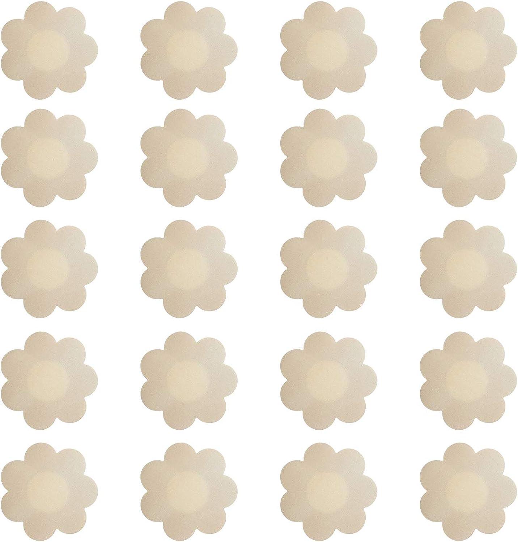 20 Pairs Nipple Breast Covers, Disposable Breast Pasties Adhesive Bra Nippleless Cover