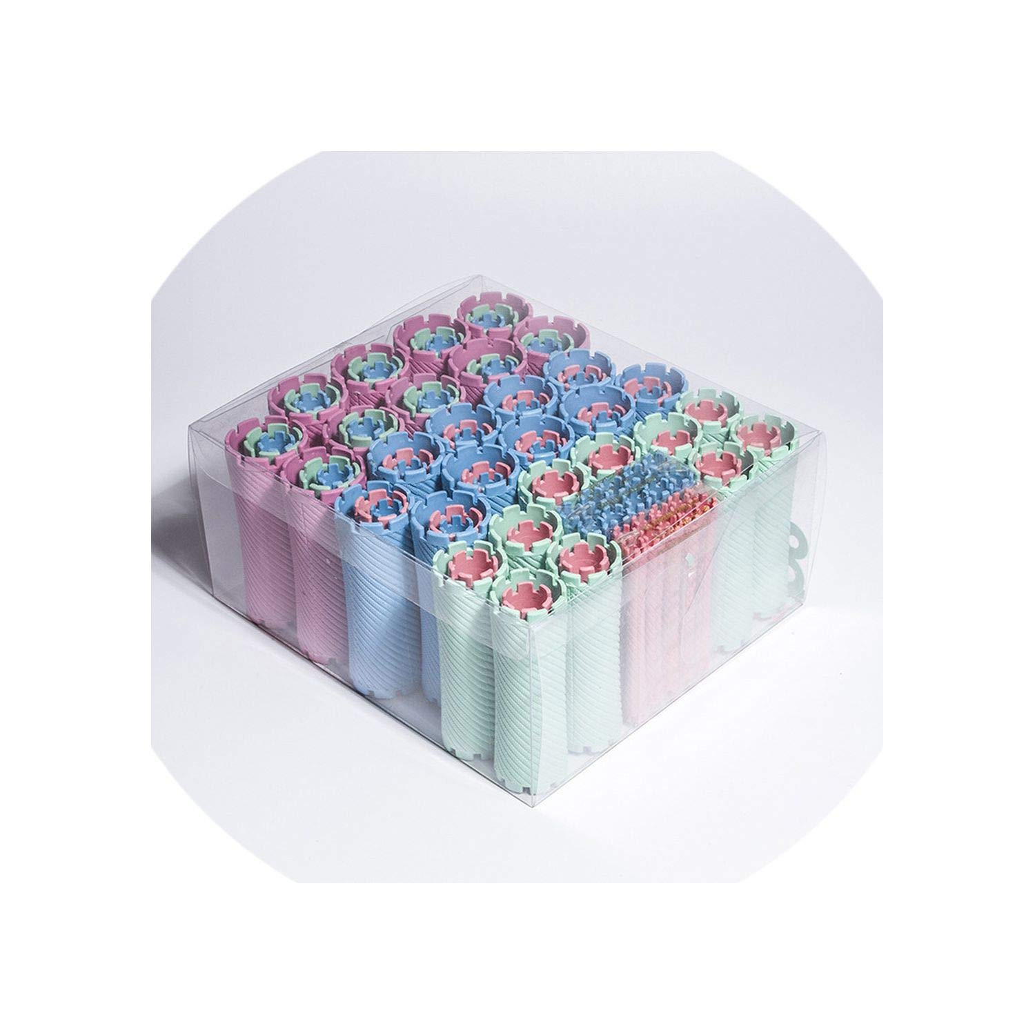 100pcs/set 10 Sizes Hair Perm Rods Kit Cold Permanent Bar Plasticrs Rollers Set Wave Fluffy Corn Hair Maker Styling UN618 by Min Min Xu-hair-rollers