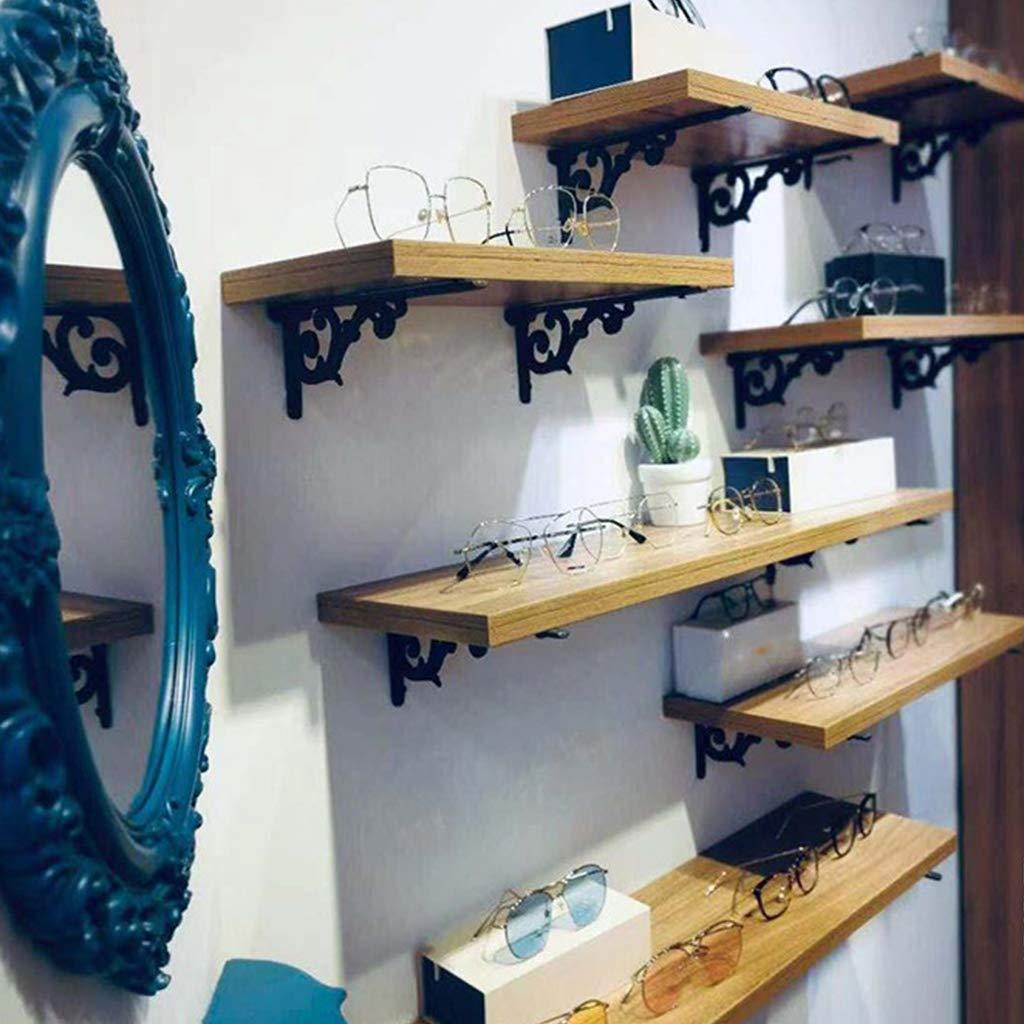 Herrajes de pared de estante flotante Soporte de pared para estilo r/ústico Soporte de estante victoriano de hierro fundido paquete de 2 Soporte de hierro fundido para estantes