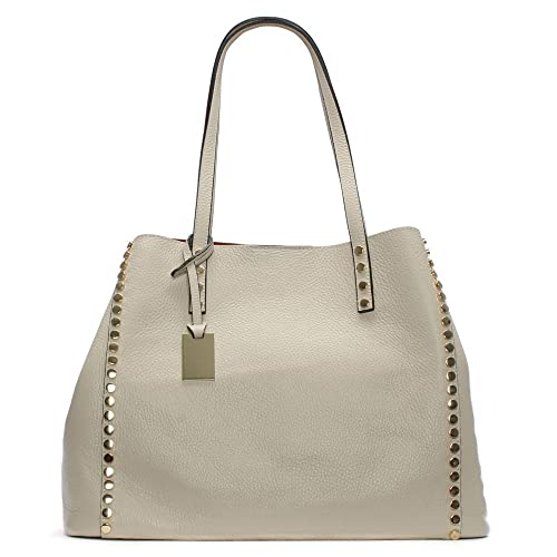 109dcdad3 Daniel Mooch Beige Tumbled Leather Studded Tote Bag Beige Leather:  Amazon.co.uk: Shoes & Bags