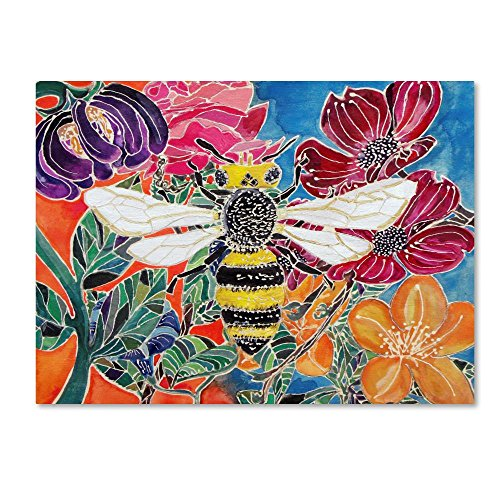Oh Honey Bee by Lauren Moss, 18x24-Inch Canvas Wall Art