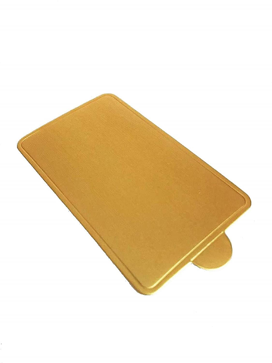 Single Serve Cardboard Dessert Board Cake Base with Tab; Perfect for personal sized desserts Pack of 100 Gold Square Mini Cake Board 4 x 2-1//4 inches