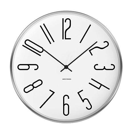 AIZIJI Relojes de Sol Personalidad Minimalista Arte Moderno Dormitorio Salón Silencio Reloj de Pared Relojes Muebles