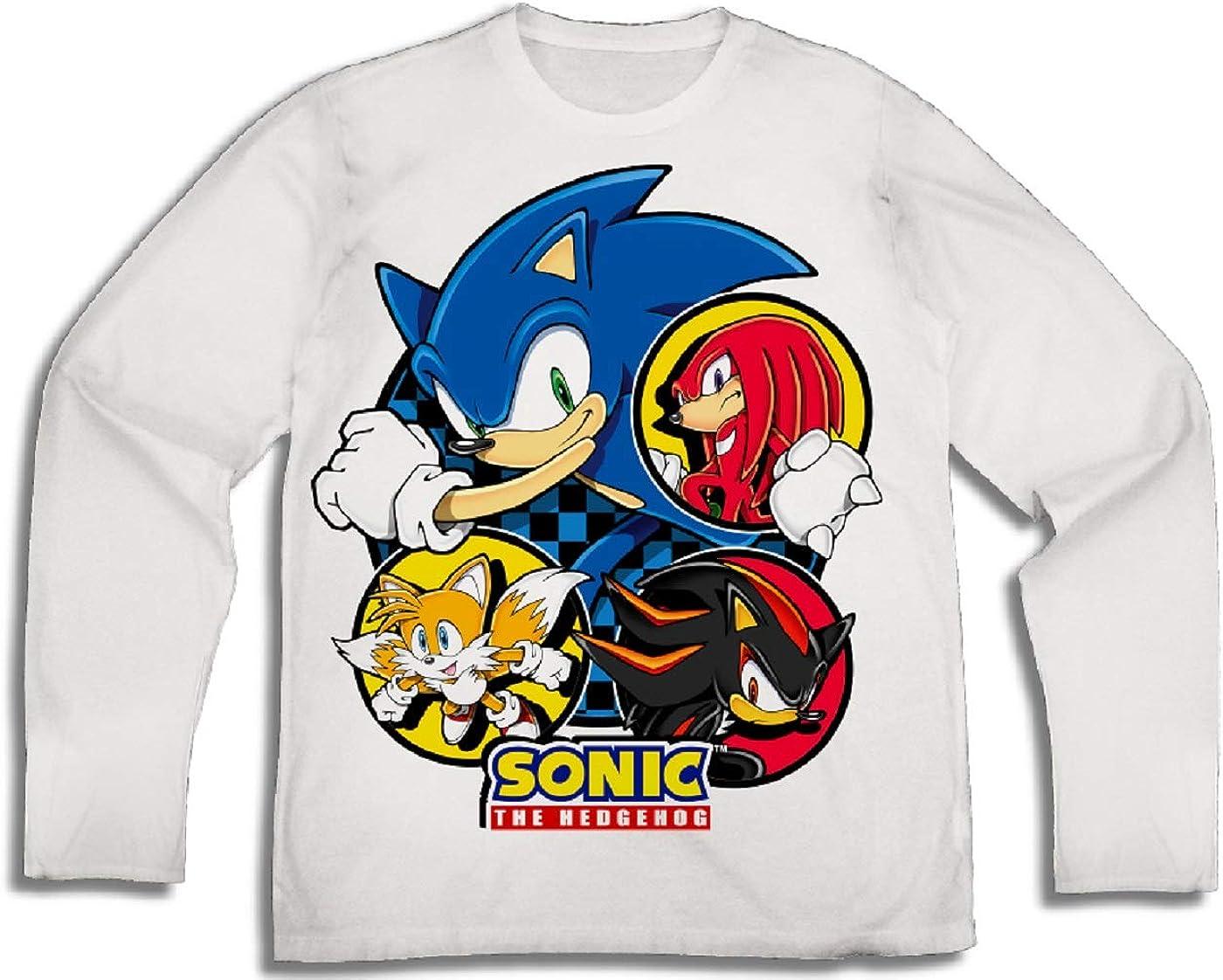 Amazon Com Sega Sonic The Hedgehog And Friends Boys Long Sleeve T Shirt Clothing