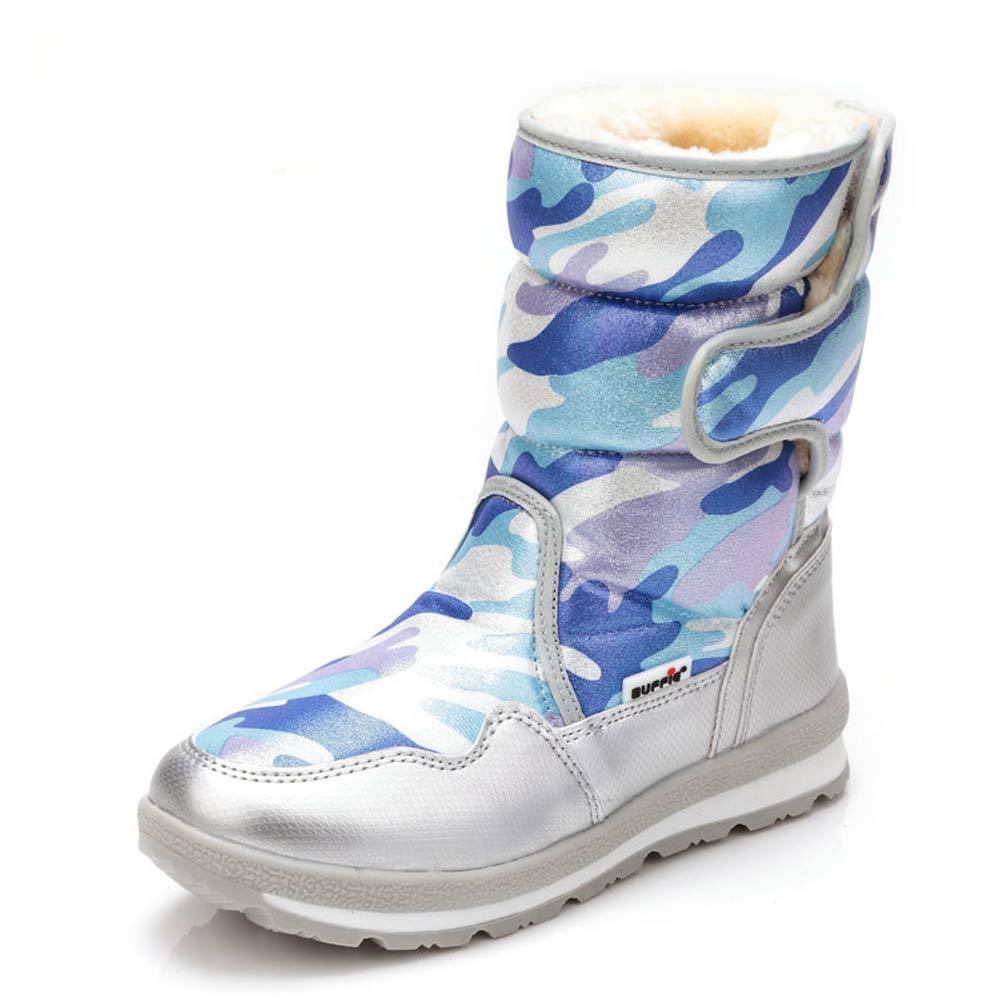 Qianliuk Frauen Winter Stiefel jünger Tragen Tragen Tragen schön Aussehende Schneeschuhe mit Fell Wasserdichten Stoff 940232