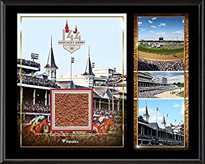 "Kentucky Derby 144 12"" x 15"" Event Sublimated Plaque with Race-Used Dirt from the 144th Kentucky Derby - Fanatics Authentic Certified"