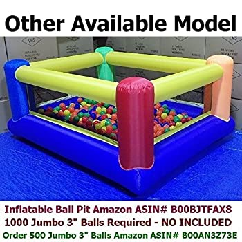"My Balls By Cms Pack Of 1000 2.5"" 65mm Ball Pit Balls In 5 Bright Colors - Crush-proof Air-filled Soft Plastic, Phthalate & Bpa Free 5"