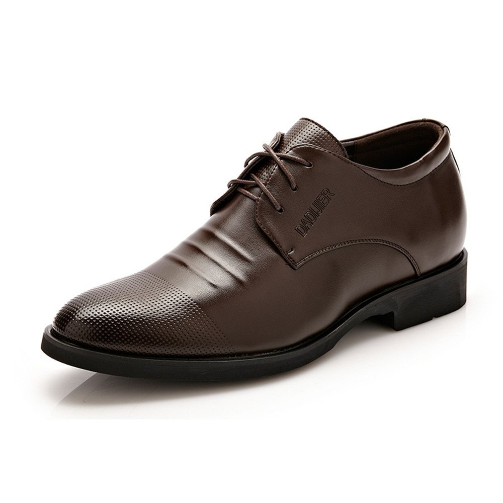 IWGR Männer Klassische Spitzenkleid Schuhe Höhe Zunehmende PU Leder Leder Leder Oxfords Business Hochzeit Formelle Schuhe für Herren Atmungsaktiv 9c5a6e