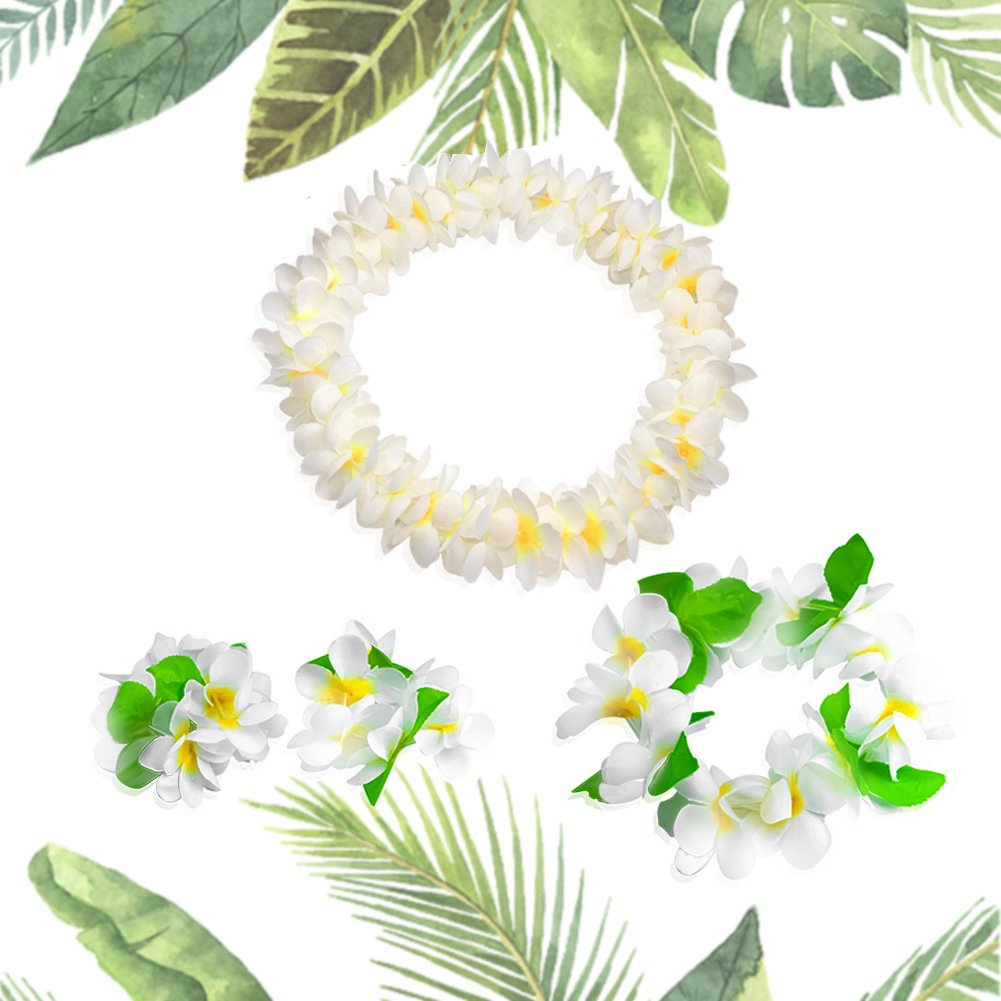 Amazon hawaiian headpiecehawaiian flower leis jumbo necklace amazon hawaiian headpiecehawaiian flower leis jumbo necklace bracelets headband set for luau party decoration supplies for hawaiian luau party by izmirmasajfo