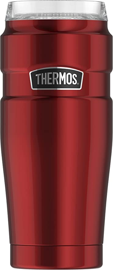ec7dc715e08 Amazon.com: Thermos Stainless King 20 oz Travel Tumbler with 360 Degree Drink  Lid, Cranberry: Kitchen & Dining