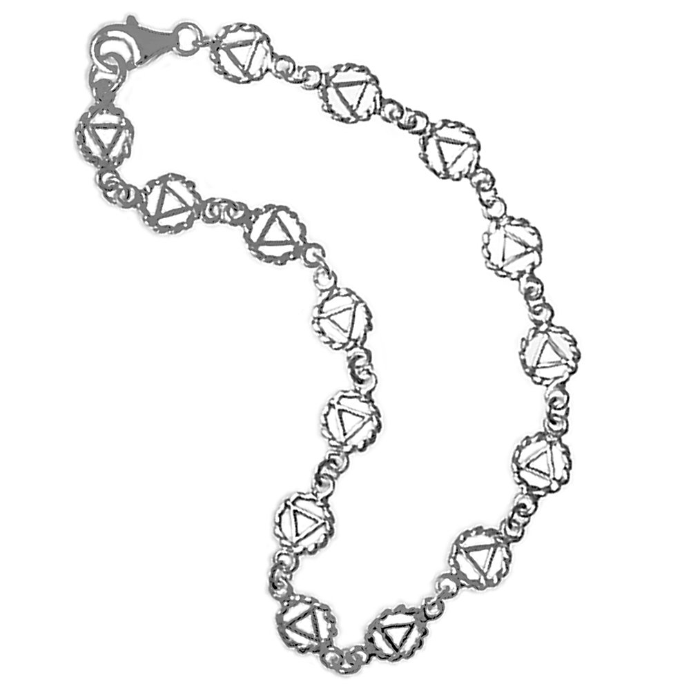 Continuous AA Symbol; Bracelets, Anklet and Necklaces #967 (Anklet 10'')