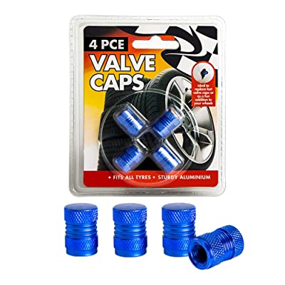 you you Aluminum Car Tire Valve Caps, 4 PCS Car Bike Stem Wheel Tyre Dust-Proof Caps, Anodized Universal Covers Suits All American Cars,Bicycle and Trucks Multicolor (Blue): Automotive [5Bkhe0112728]