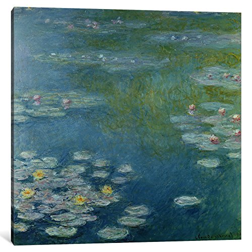 iCanvasART 1 Piece Nympheas at Giverny, 1908 Canvas Print by Claude Monet, 37
