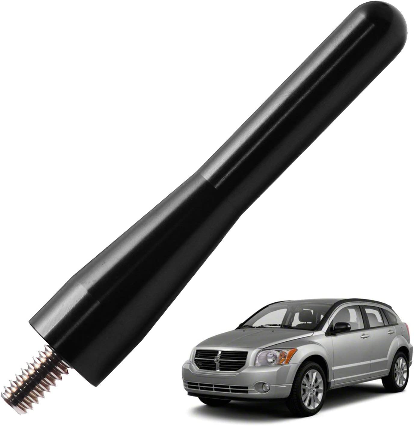 3 inches-Black JAPower Replacement Antenna Compatible with Dodge Caliber 2007-2015
