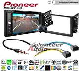 Pioneeer AVIC-6201NEX Double Din Radio Install Kit with GPS Navigation Apple CarPlay Android Auto Fits 2003-2006 Chevrolet Avalanche, Chevrolet Blazer