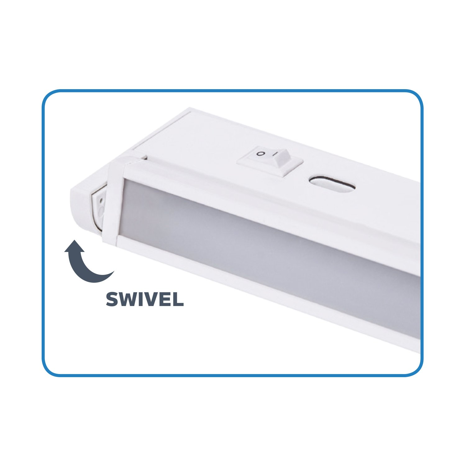 3 Color Setttings Built in 1 Unit: Soft White Warm White and Cool White Aluminum Construction Energy Star Nadair 11 LED Plug-in Swivel Ultra Slim Dimmable Under Cabinet /& Closet Lighting