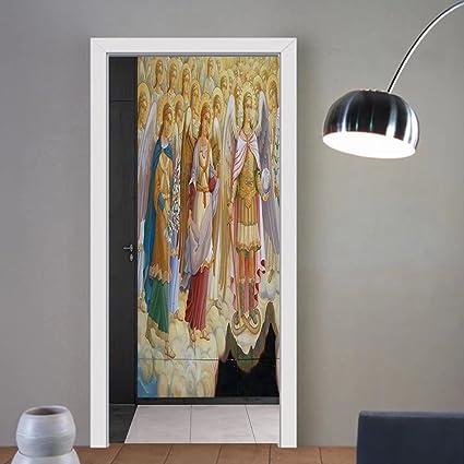 Amazon Gzhihine Custom Made 3d Door Stickers Fresco From Saint