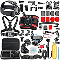 HAPY Accessory Kit for GoPro Hero6,5 Black,gopro fusion,Hero Session,HERO (2018), Hero 6,5,4, 3+,3,Campark ACT74,XIAOMI,AKASO/ APEMAN/ DBPOWER,Sports Camera Accessories