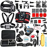 HAPY Accessory Kit for GoPro Hero6 - 5 Black - gopro fusion - Hero Session - HERO (2018) - Hero 6 - 5 - 4 - 3+ - 3 - Campark ACT74 - XIAOMI - AKASO APEMAN DBPOWER - Sports Camera Accessories