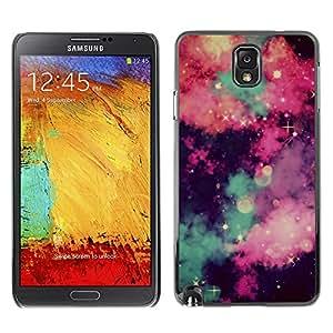 Caucho caso de Shell duro de la cubierta de accesorios de protección BY RAYDREAMMM - Samsung Galaxy Note 3 N9000 N9002 N9005 - Sky Clouds Majestic Night