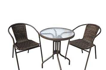 Amazoncom JOYPANDA Outdoor Patio  Piece Bistro Furniture Set - Bistro table set