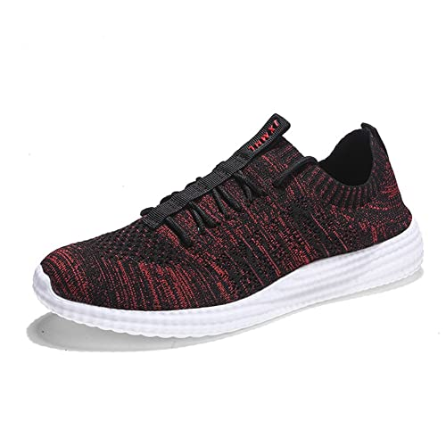 7af2a003dee75 LUWELL Men s Lightweight Athletic Running Shoes Breathable Mesh Jogging  Walking Sneakers in Red Size 7