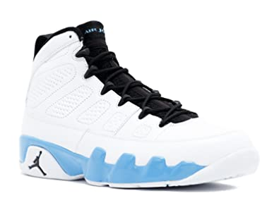 new product daaa1 95219 Amazon.com   Jordan Nike Air 9 Retro IX White Powder Blue Mens Basketball  Shoes 302370-103   Basketball