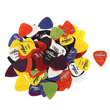 100pcs Gitarren Plektrum Plektren für Akustische Ukulele E-Gitarre Zubehör