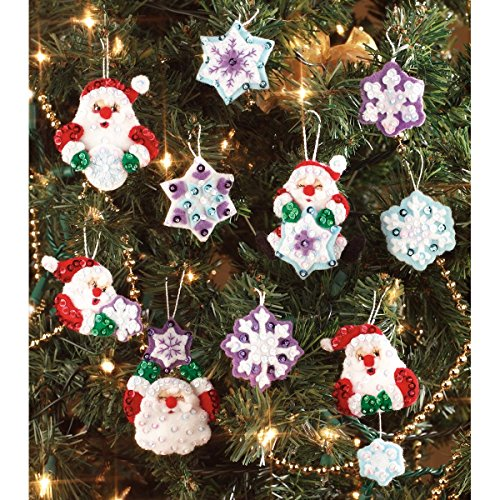 Janlynn Counted Cross Stitch Kit, Santa's Snowflake Ornament