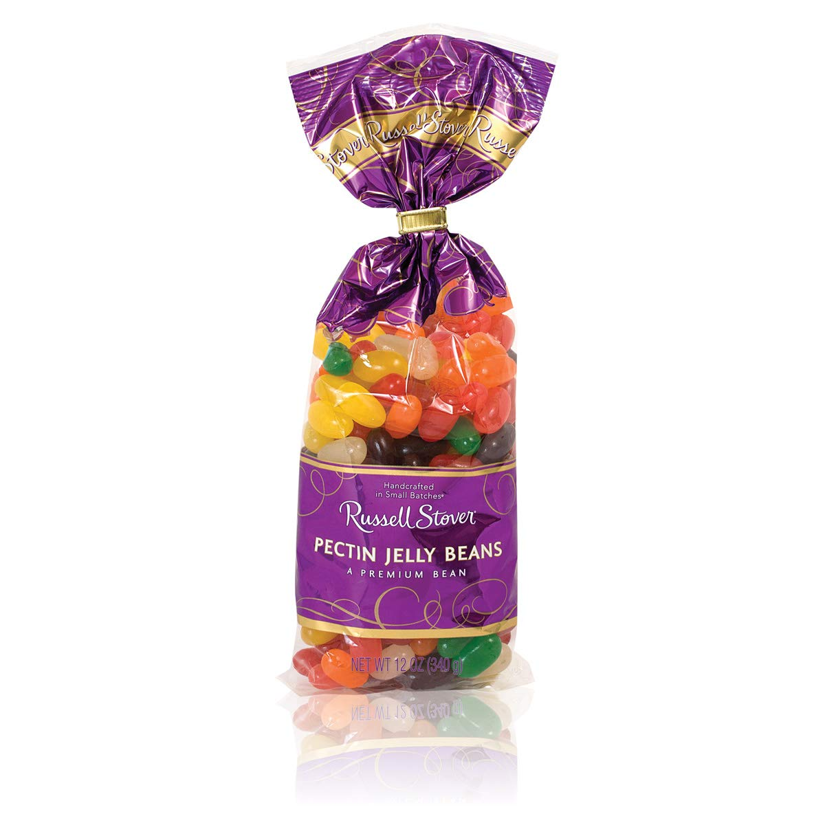 Russell Stover Pectin Flavored Jelly Beans Candy, Assorted Flavors, Pack of 4, 12 Ounce Bags (48 Ounces Total) by Russell Stover