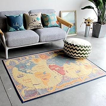 Amazon.de: KOOCO Kreative Welt Karte Teppiche für Wohnzimmer neue ...