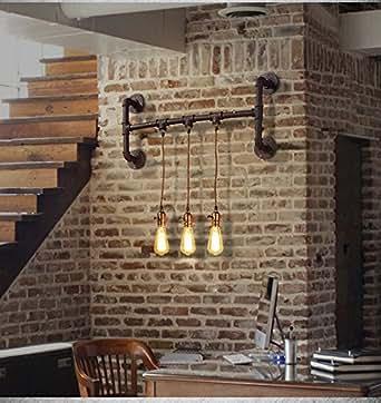 Kinine decoraci n industrial simplicidad edison mini pared - Amazon decoracion pared ...